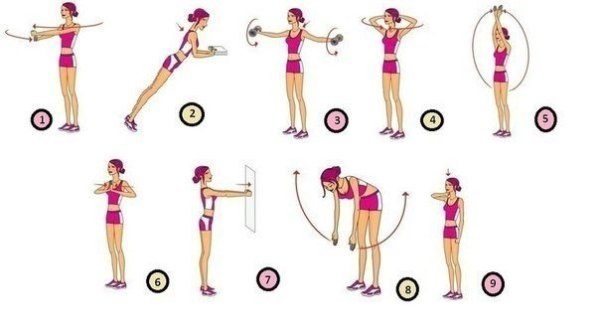 Как увеличить грудь в домашних условиях упражнения